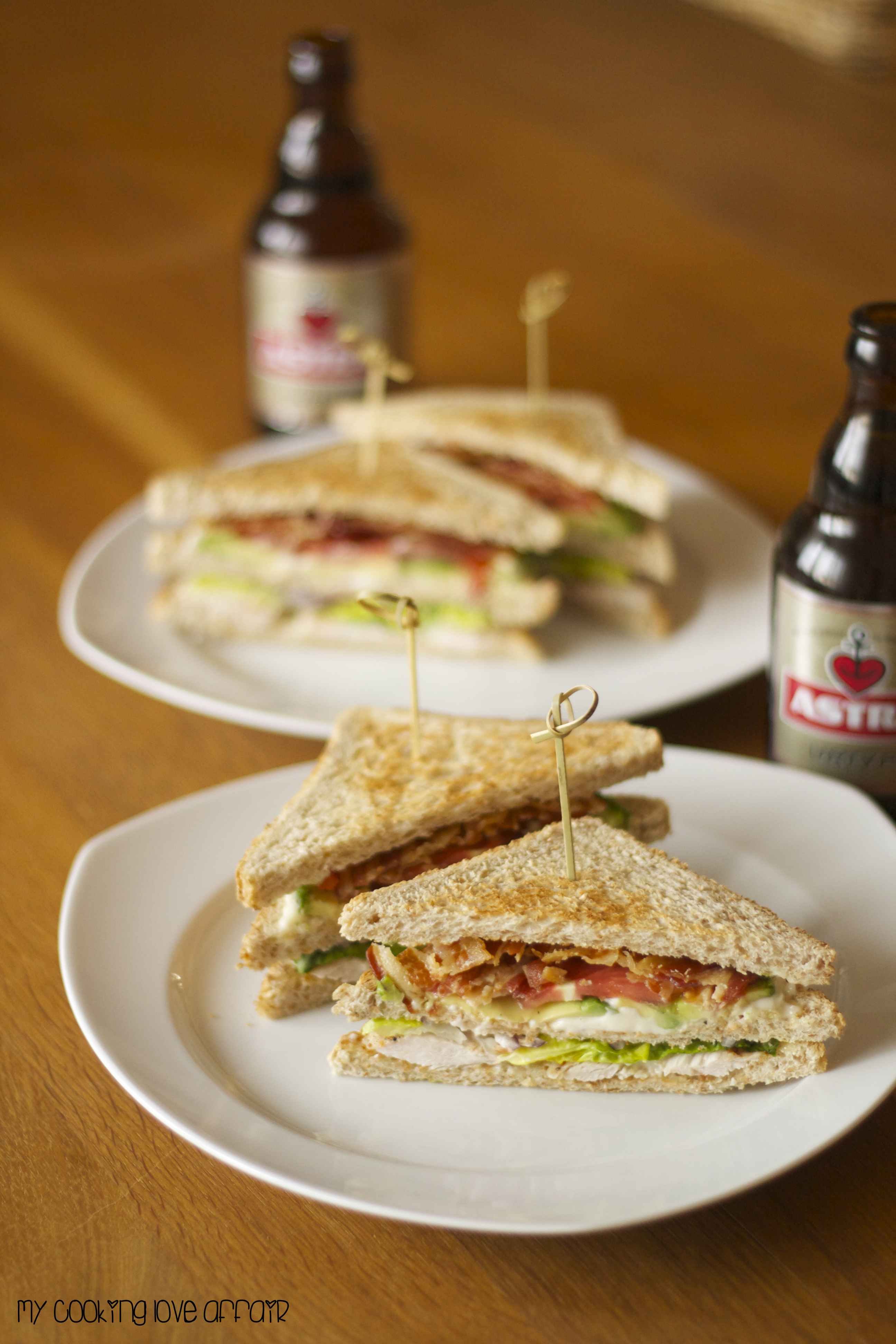 Sandwich und Bier