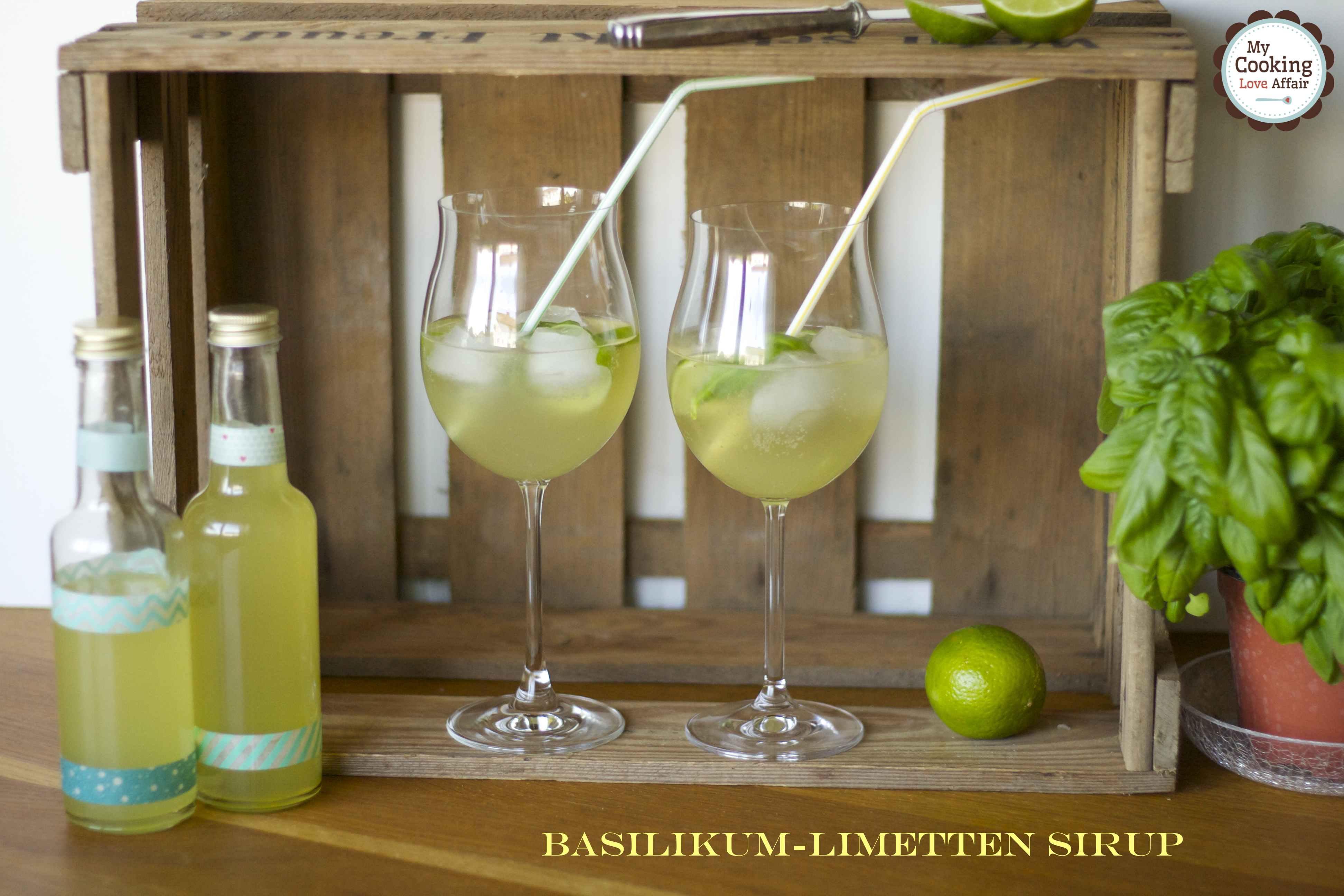 Basilikum-Limetten Sirup