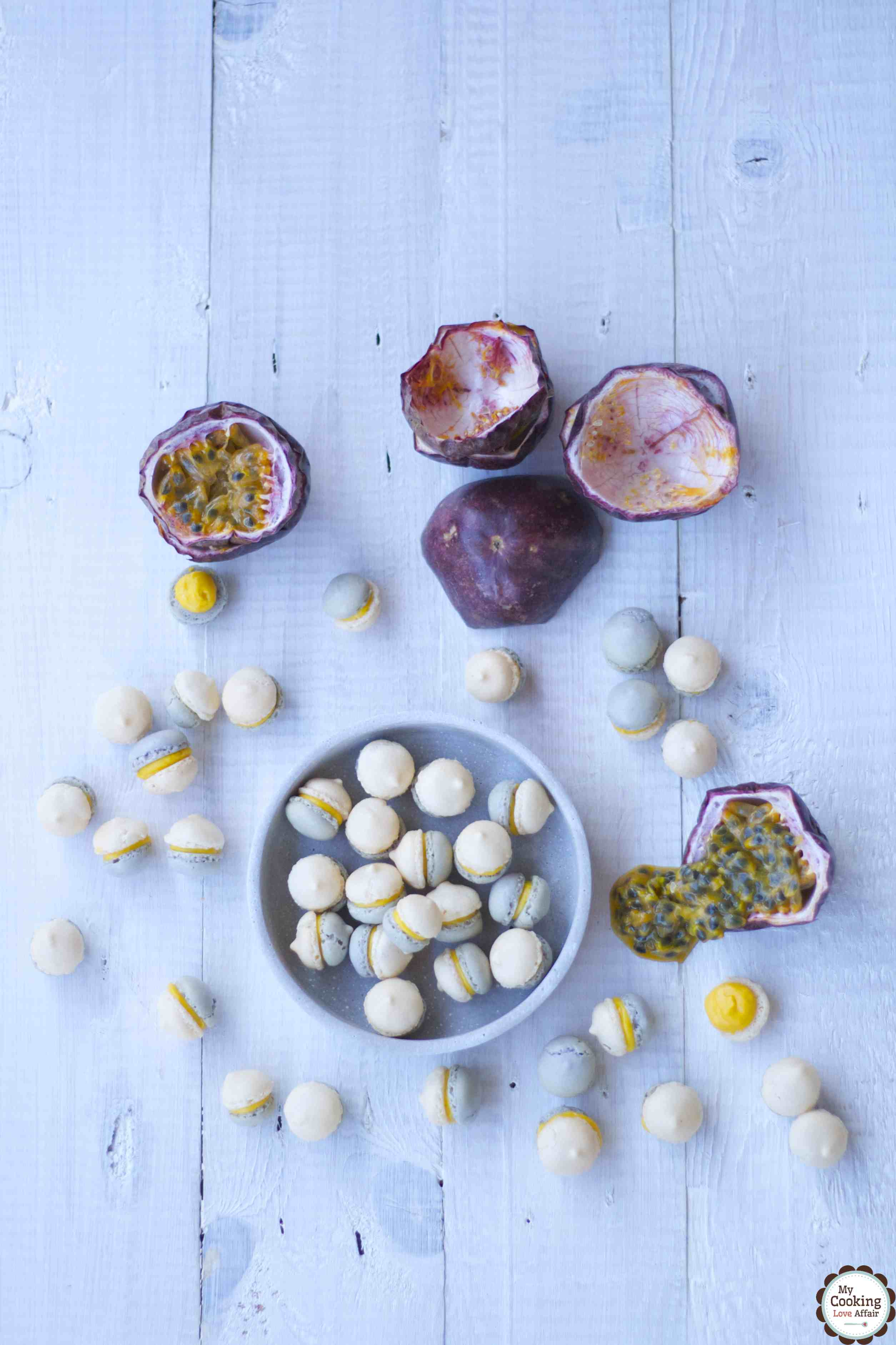 Macarons mit Tonkabohnen und Passionsfrucht-Ganache