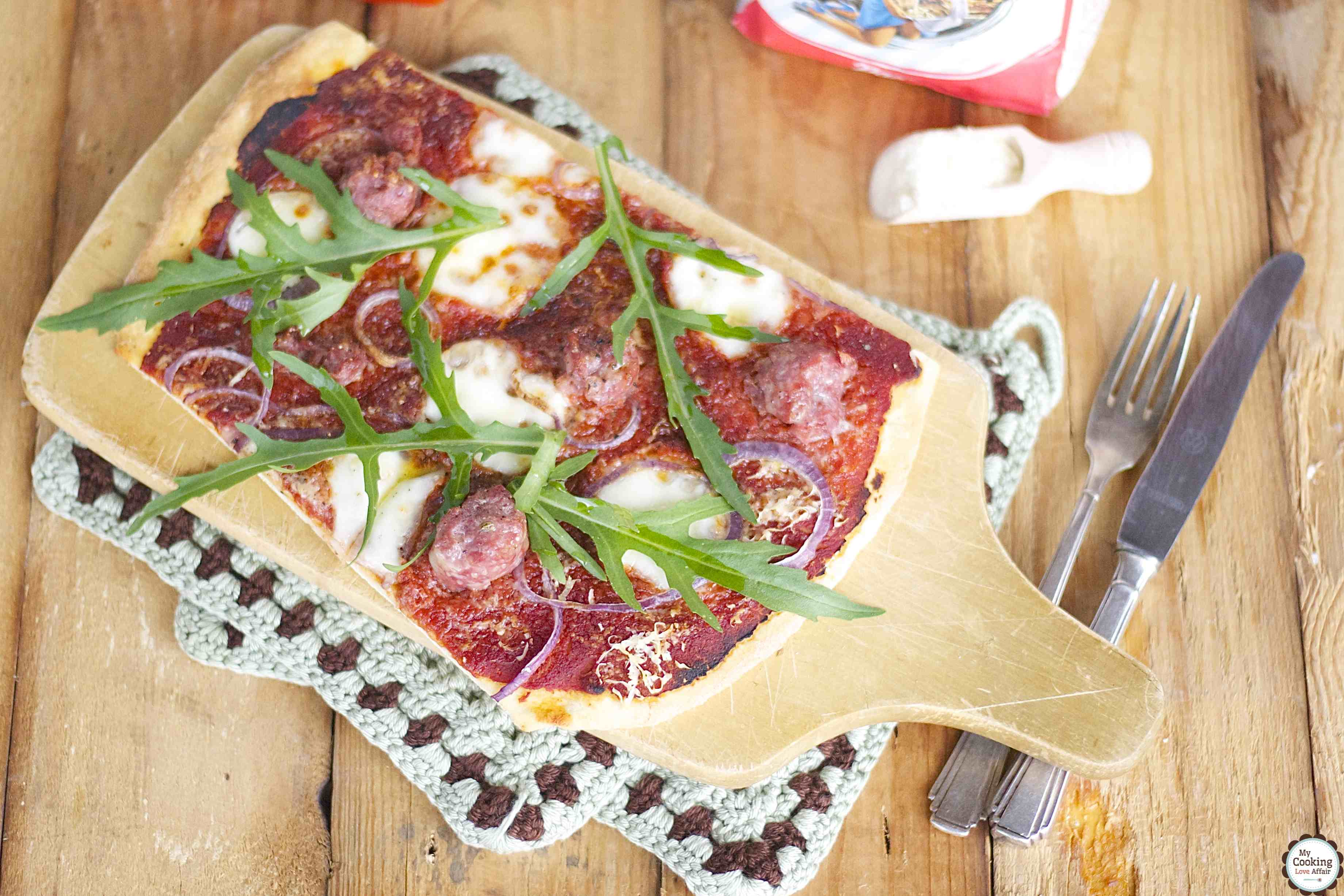 schnelle Salsiccia-Pizza