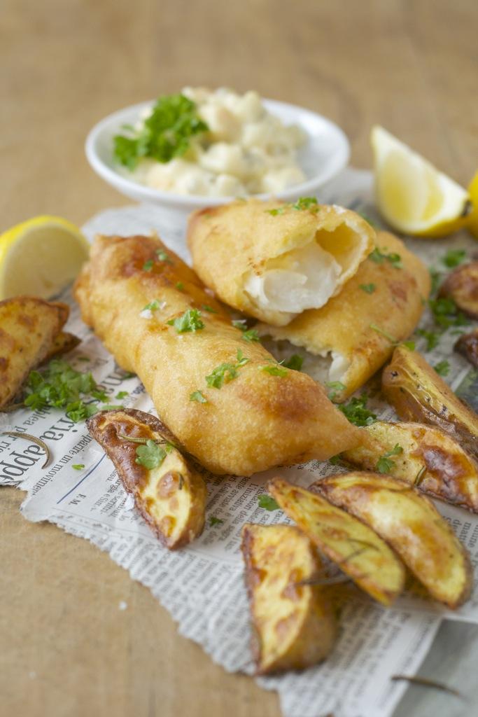 Fish & Chips mit Sauce Tatar
