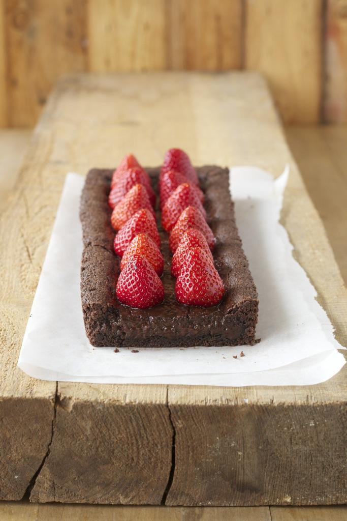 Schokoladentarte mit Erdbeeren und Wumms
