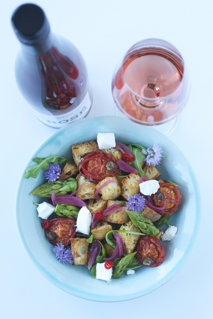 Brotsalat mit Spargel | Wein(seligkeiten) my love affair with Rosé