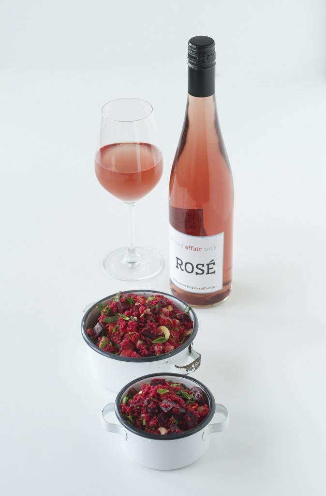 Taboulé mit Rote Bete | Wein(seligkeiten) my affair with Rosé