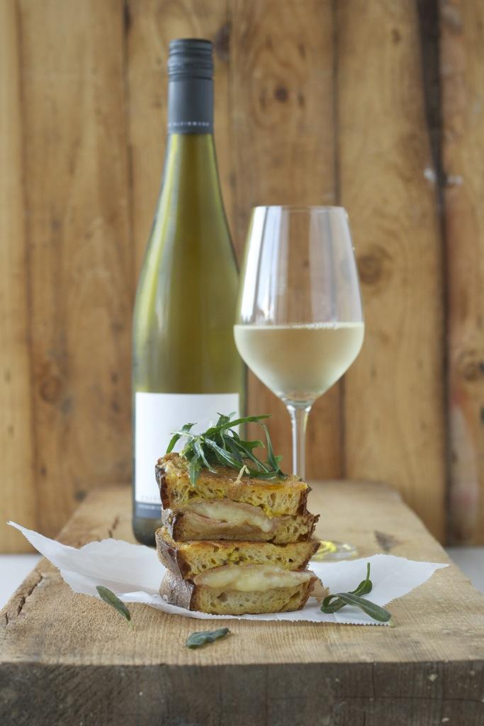 French Toast mit Fontina, Prosciutto und Salbei