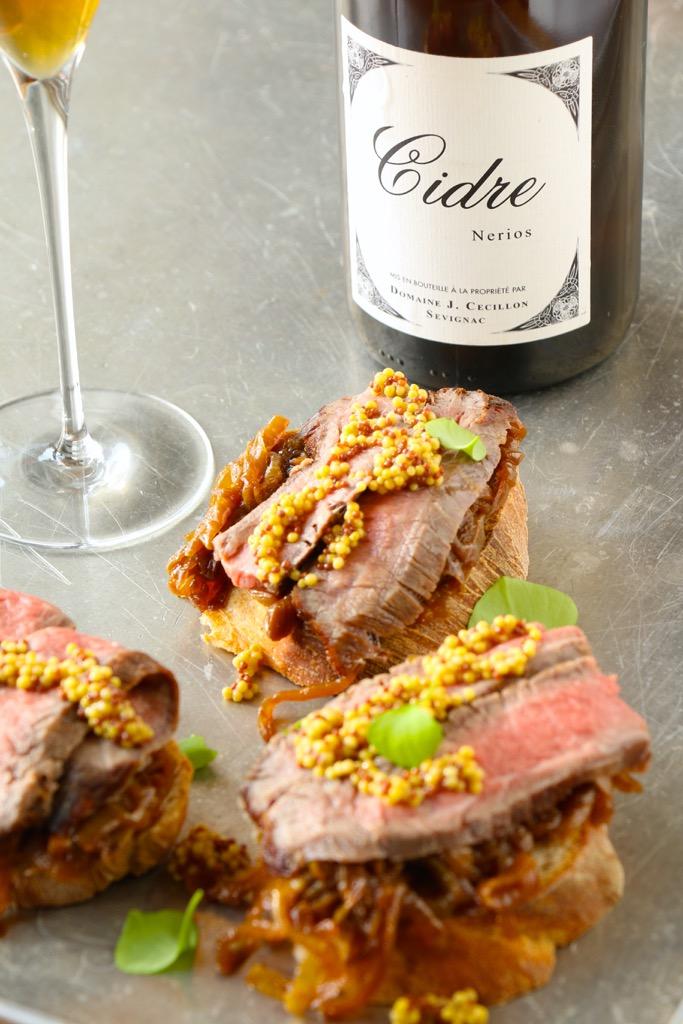 65 Stunden Cidre Steak - Stulle Deluxe