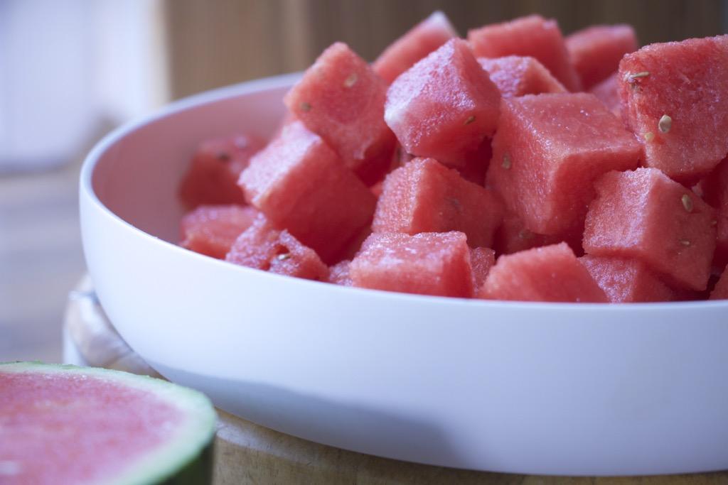 Wassermelonenslush mit Roséwein