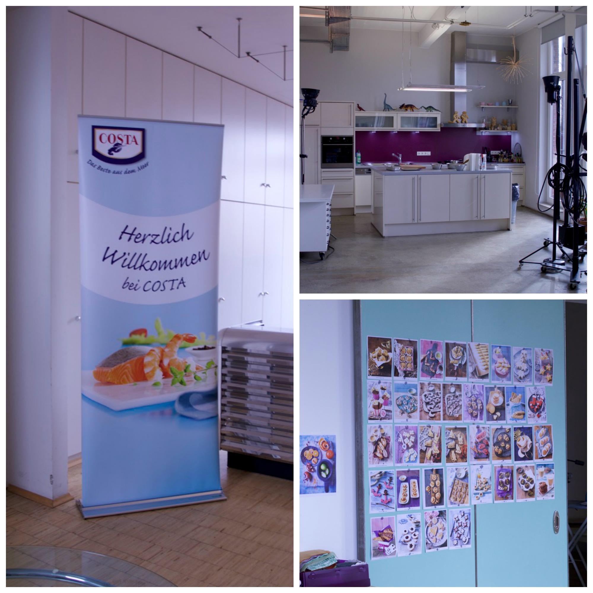 Küche und Studio der Costa Garnelenschule Hamburg