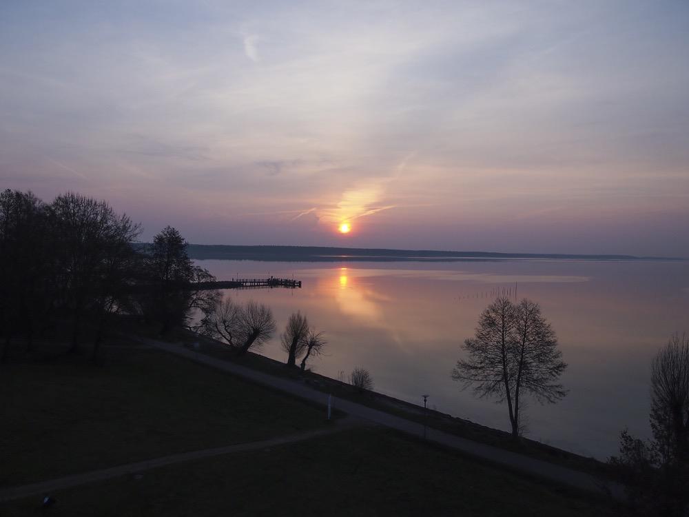 Sonnenaufgang über der Müritz
