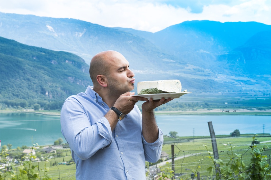 Pressereise-Südtirol-Kaltern-am-See-Käse-an-Blogger