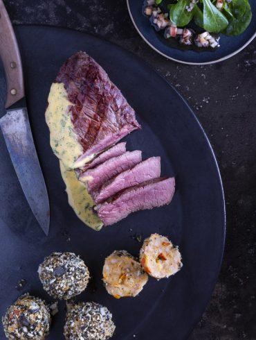 EAT-SMARTER-Charolais-Steakhüfte-Kürbisknödel